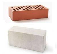 Кирпич керамический, силикатный