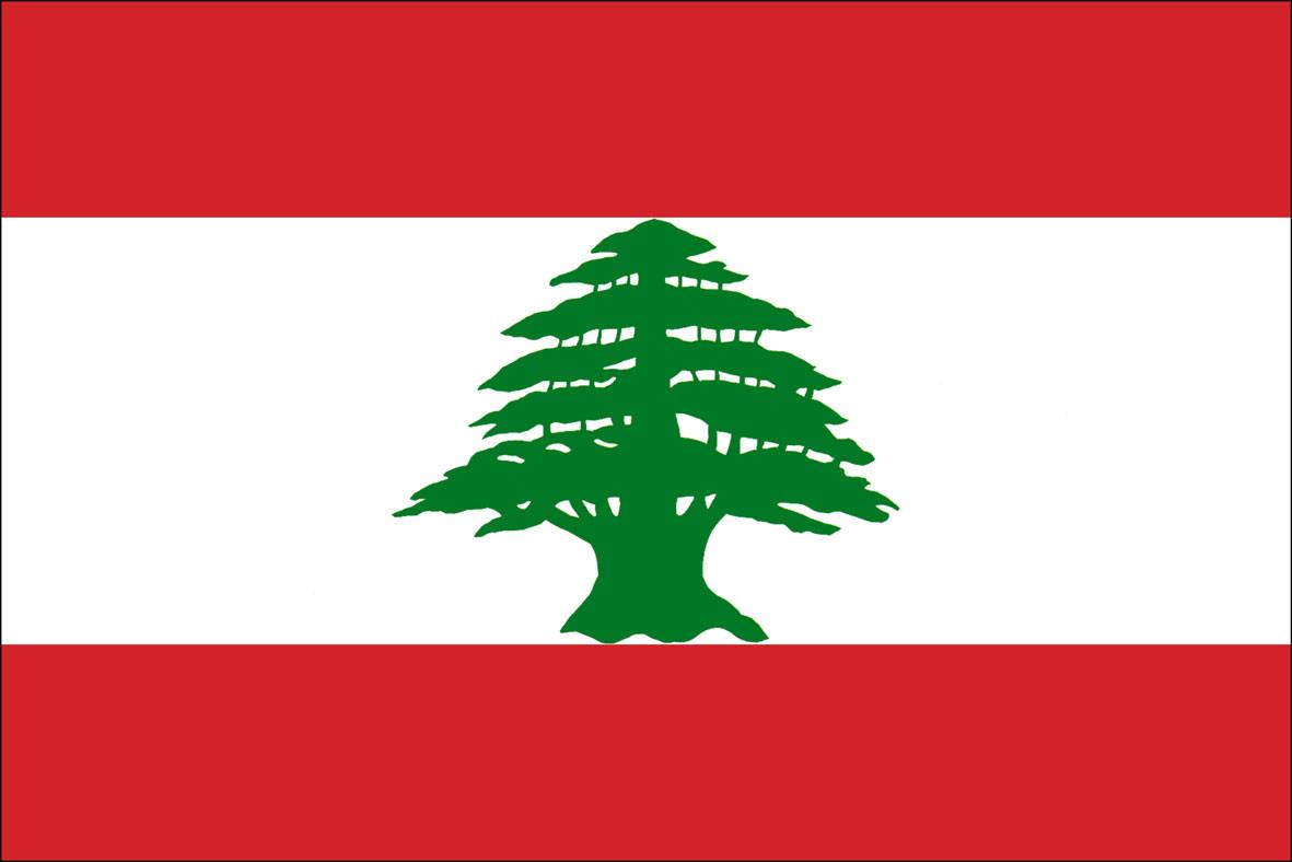 Национальный флаг Ливана 90х150см
