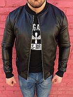 Мужская черная куртка с манжетом