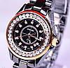 Красивые женские  часы Chanel J12 керамика черные