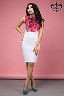 Стильное женское белое платье Лючия  Luzana 42-50 размеры