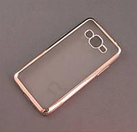 Чехол TPU для Samsung Galaxy J2 Prime G532f прозрачный серебристый хром