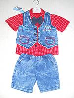 Нарядный летний  костюм мальчик 1 2 3 4 года