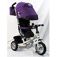 Детский трехколесный велосипед M 3452-2FA, надувные колеса, фиолетовый