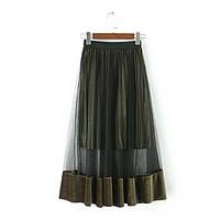 Модная удлиненная юбка , фото 1
