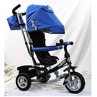 Детский трехколесный велосипед M 3452-3FA, надувные колеса, синий
