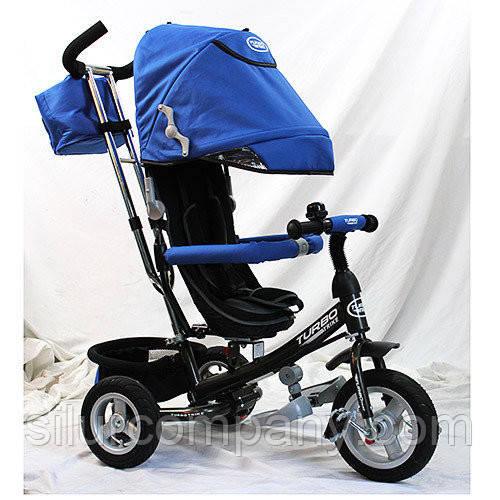 """Детский трехколесный велосипед M 3452-3FA, надувные колеса, синий - Интернет магазин """"Модняга"""" в Харькове"""