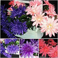 Цветная лилия из ткани (разные цвета), выс. 50 см., 9 голов., 20 шт., 32 гр./шт.