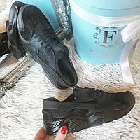 Женские кроссовки Копия бренд черные код229