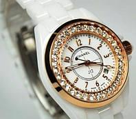 Красивые женские  часы Chanel J12 керамика белые, фото 1
