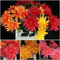 Искусственные цветы - лилия разных цветов, выс. 50 см., 9 голов., 20 шт., 32 гр./шт.