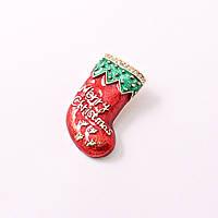 Брошь Рождественский сапог