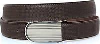 Мужской элегантный ремень для брюк из натуральной кожи MYKHAIL IKHTYAR (МИХАИЛ ИХТЯР) 3744 коричневый