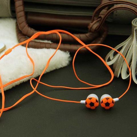 Вакуумные наушники футбольный мяч, №217