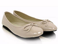 Женские балетки Агрипина бежевого цвета