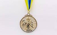 "Медали спортивная ""Боксер"" ( 2 место - серебро;металл, d-5см, 28g, на ленте)"