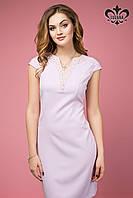 Элегантное  женское сиренево-розовое платье  Калипсо  Luzana 42-50 размеры
