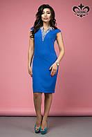 Элегантное  женское платье  Калипсо электрик Luzana 42-50 размеры