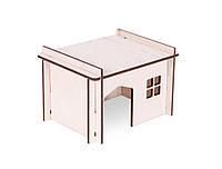 Домик Pet Inn №1 для грызунов деревянный, 12,5х11,1х13 см, фото 1