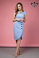Стильное женское голубое платье Лаурель Luzana 42-50 размеры