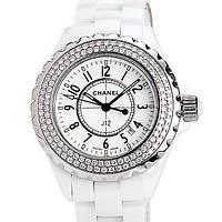 Красивые женские  часы Chanel J12 керамика белые C5471