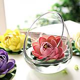Цветок Лотоса декоративный плавающий 10 х10х5 см(водяная лилия) розовый, фото 7