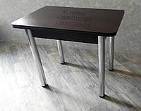 Стол кухонный раскладной на металический ногах цвет венге темный