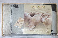Жаккардовый шерстяной плед Vladi Cats 02 (140х200)