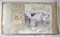 Жаккардовый шерстяной плед Vladi Ажур 01 (140х200)