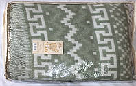 Жаккардовый шерстяной плед Vladi Чили 02 (140х200)