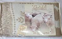 Жаккардовый шерстяной плед Vladi (140х200)