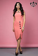 Стильное женское коралловое платье Лаурель Luzana 42-50 размеры