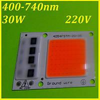 Фито светодиод для растений 220V, 30W, 400-740нм