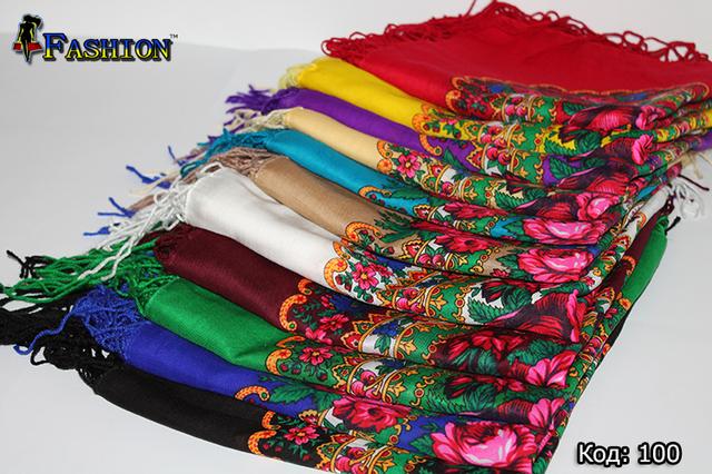 Платки украинские с цветочным орнаментом
