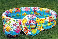 Детский надувной бассейн «Аквариум» с мячом и кругом |«Intex»