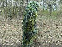 Маскировочный костюм Кикимора Гилли зеленый (джутовые нити)
