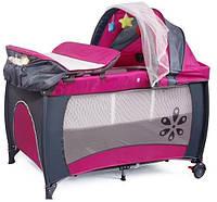 Манеж-кровать Premium Pink