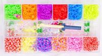 Резинки для плетения в кейсе, 3000 шт., с инструментами, с подвесками