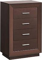 Комод 60/4 Клео (SM), элемент модульного комплекта мебели для спальни, дуб сонома/белый глянец