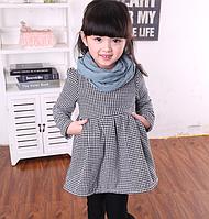 Платье-туника на девочку с рукавом в три четверти