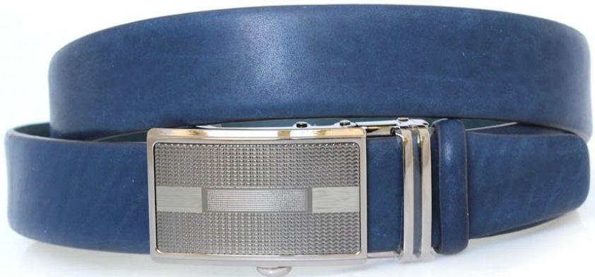 Мужской кожаный ремень с пряжкой автомат MYKHAIL IKHTYAR 3738
