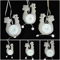 Льняная курочка - шитая авторская игрушка, 95/75 (цена за 1 шт. + 20 гр.)