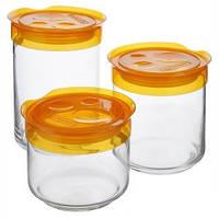 Набор банок для хранения сыпучих продуктов (0,5 л, 0,75 л, 1 л.)  Luminarc L1101