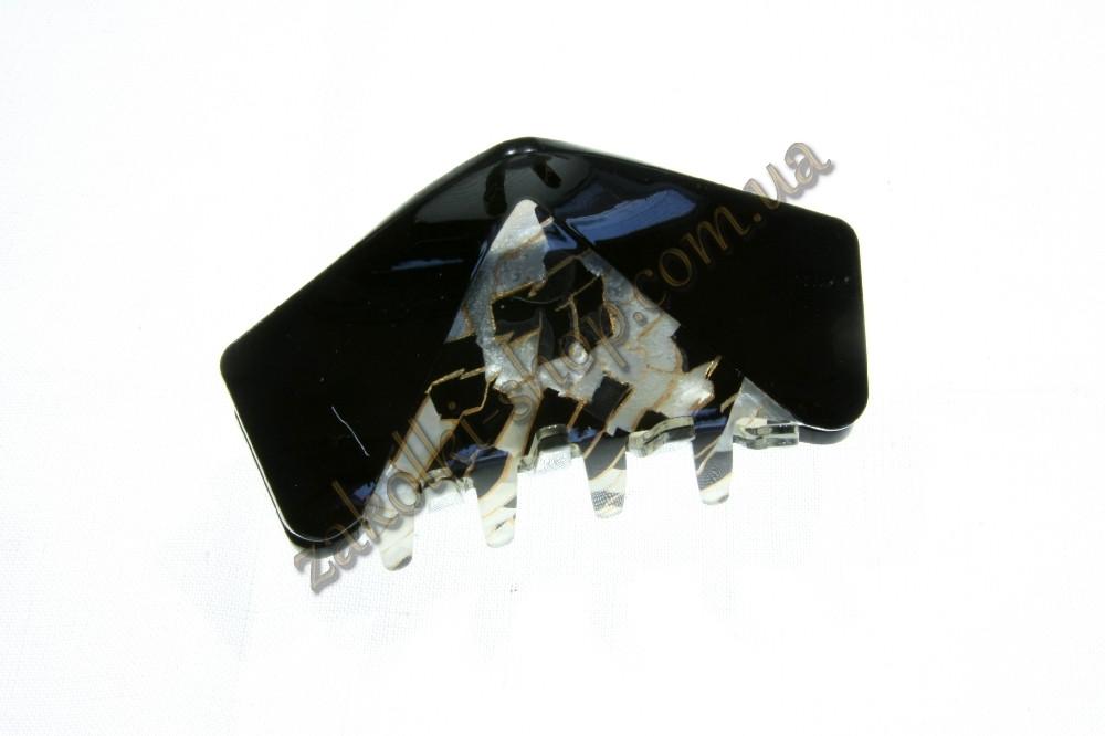 Крабы для волос; материал: лакированый пластик, 1 штукa