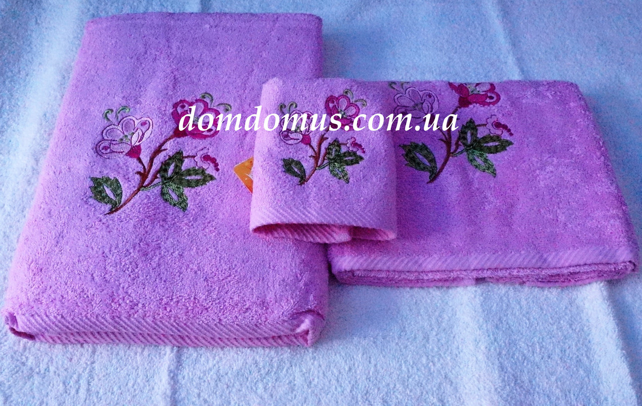 Набір махрових рушників Philippus 3 шт, Туреччина, колір рожевий