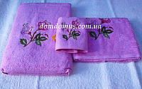 Набор махровых полотенец Philippus 3 шт, Турция, цвет розовый
