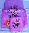 Набір махрових рушників Philippus 3 шт, Туреччина, колір рожевий, фото 2
