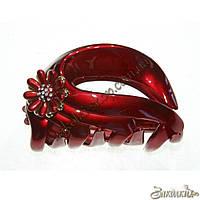 Крабы для волос; материал: лакированый пластик с камнями чешское стекло, длина: 8 см, 1 штука