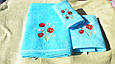 Набор махровых полотенец Philippus 3 шт, Турция, цвет бирбзы, фото 2