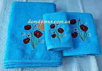 Набор махровых полотенец Philippus 3 шт, Турция, цвет бирбзы